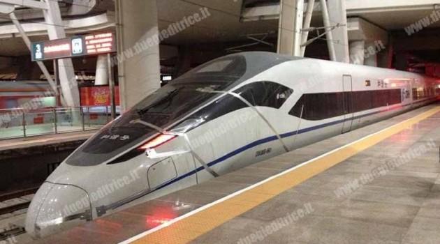 Zefiro Cina in prova a 304 km/h