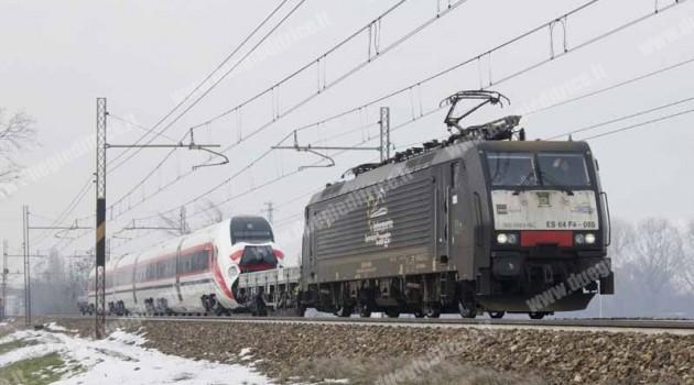 Treno CAF per la Sardegna arrivato a Firenze Osmannoro