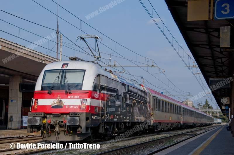 Programma odierno treni EC Italia–Germania