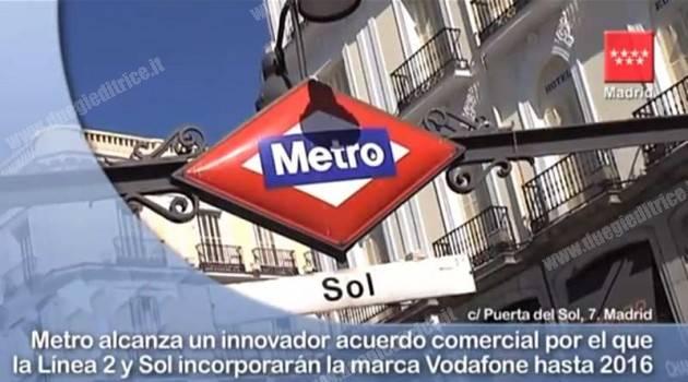 Linea 2 di Madrid sponsorizzata da Vodafone