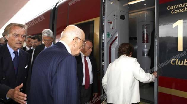 Il Presidente Napolitano viaggia sull'Italo