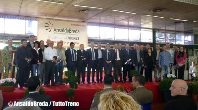 AnsaldoBreda: a Pistoia si rende omaggio ai Maestri del Lavoro e ai Seniores