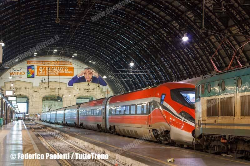 ETR 400 02 in prova sulla Milano–Bologna