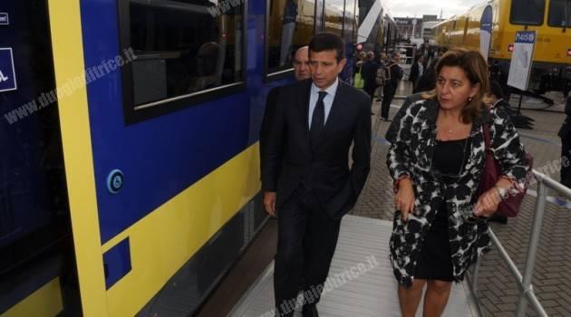 Innotrans 2014: il ministro Lupi visita gli stand di alcune aziende italiane