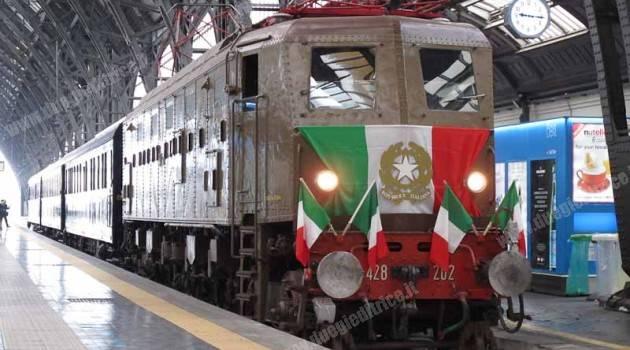 Fondazione FS: il treno presidenziale a Milano Centrale