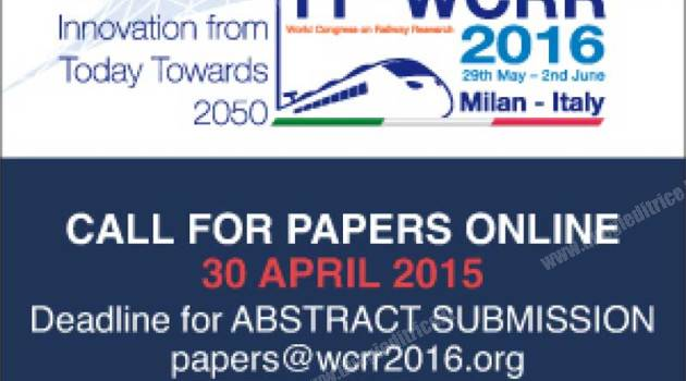 WCRR 2016: oltre 900 abstract pervenuti