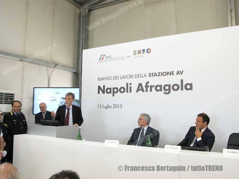 Napoli Afragola: visita del Ministro Delrio al cantiere della nuova stazione