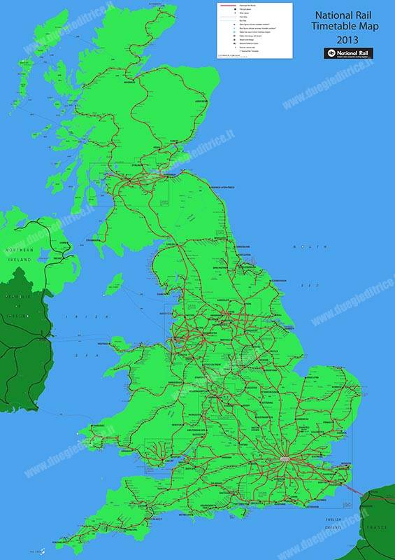 Network Rail UK Map -  May 2013 Timetable (eNRT)