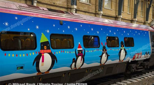 Virgin Trains, svelati due treni in livree natalizie ideate da bambini di 9 e 11 anni