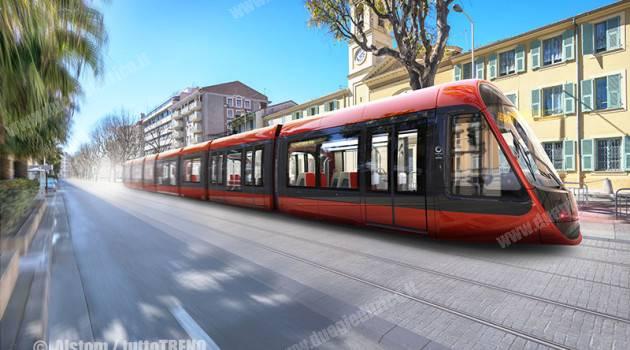 Il design del tram Alstom Citadis per la nuova linea Est-Ovest del tram Nice Côte d'Azur