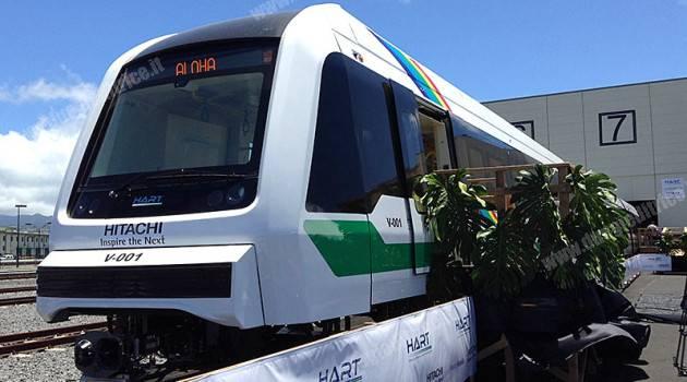 Hitachi presenta il primo treno per la metro di Honolulu