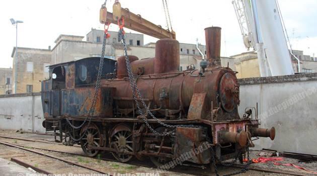 La locomotiva N. 316 AFS-FSE a Lecce