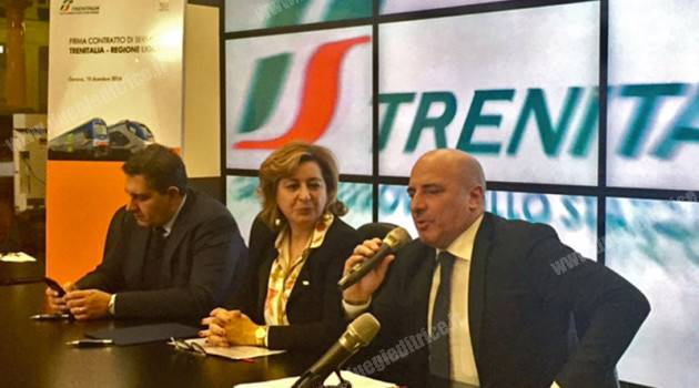 Trenitalia: firmato il contratto di servizio con la Regione Liguria
