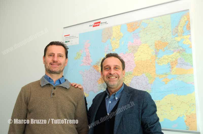 Da sx Tiziano Croce e Roberto Castelnovo, i CEO di Rail Cargo Carrier Italy
