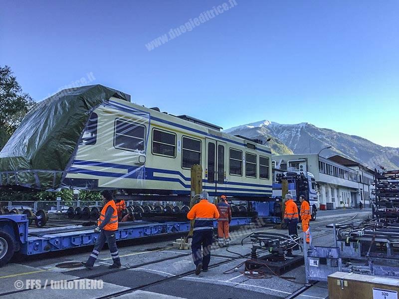 Treno FART esce riparato da Officine SBB-FFS di Bellinzona