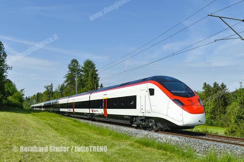 Stadler presenta Giruno, il treno AV per il tunnel di base del Gottardo