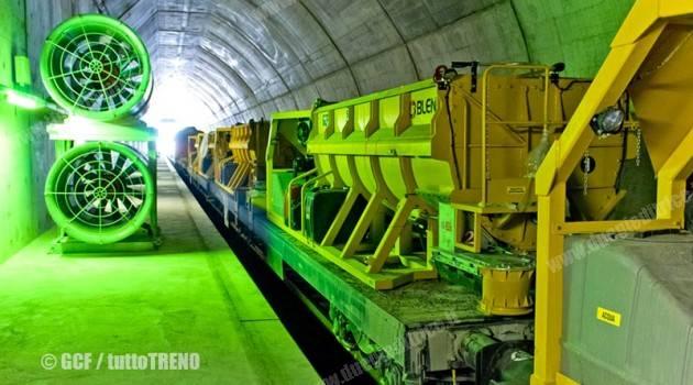 Avvio ufficiale dei lavori di armamento ferroviario della Galleria di Base del Ceneri