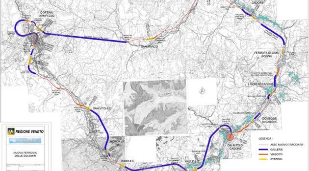 Ferrovia delle Dolomiti, presentate le ipotesi di tracciato