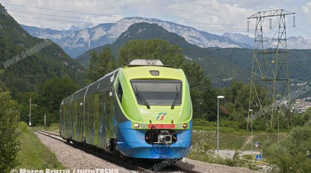 Nuova livrea per i treni del Trentino