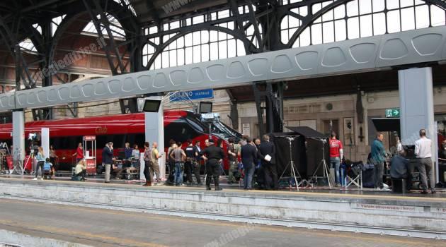 L'ETR 675 03 di NTV in posa a Milano Centrale