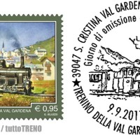 Francobollo per la ferrovia della Val Gardena