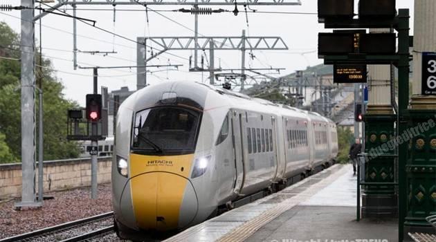 Nuovo IC di Virgin Trains in corsa prova a Edimburgo