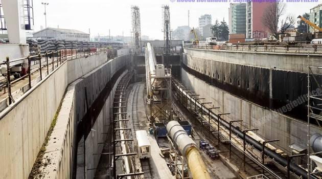 Cantieri M4 di Milano al 30%
