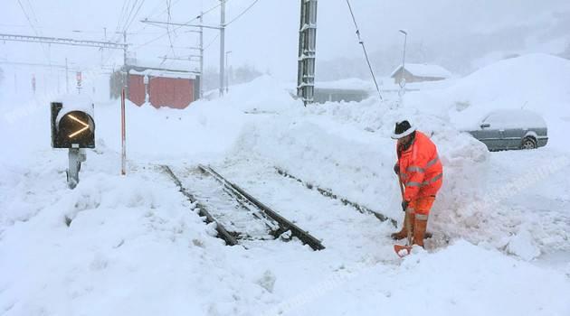Tempesta Burglind, aggiornamenti da Matterhorn Gotthard Bahn (agg. 10 gennaio)