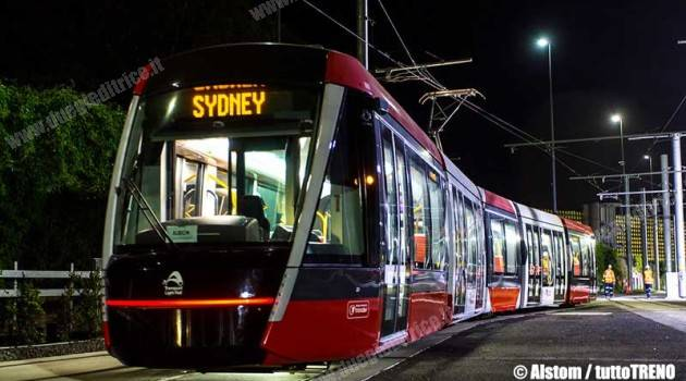Alstom, il primo Citadis X05 in test a Sydney