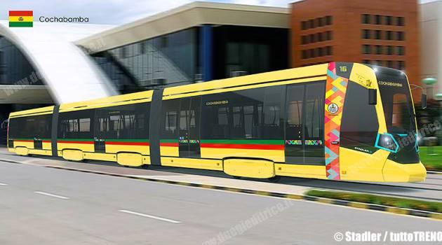 Stadler, 12 tram per Cochabamba in Bolivia