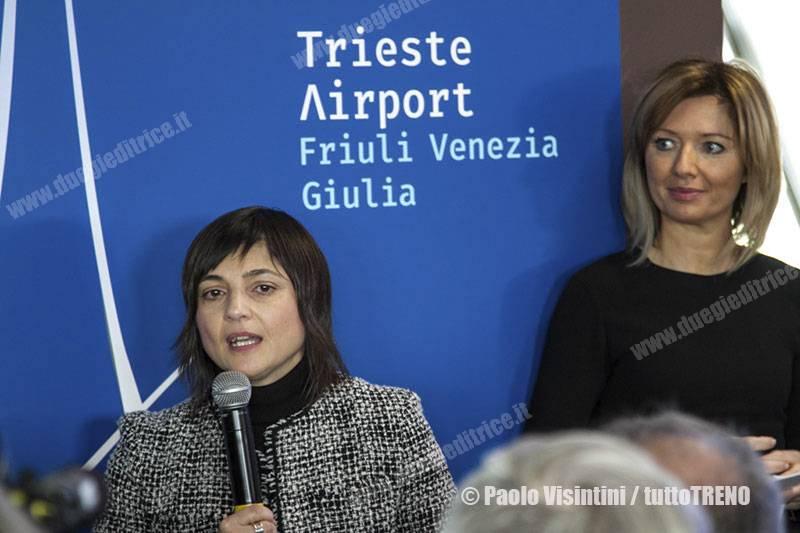 TriesteAirport-DeboraSerracchianipresidentedelFVG_RonchideiLegionari-2018-03-19-PaoloVisintini_tuttoTRENO_wwwduegieditriceit