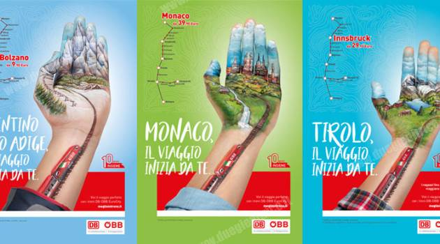 """DB-ÖBB, campagna pubblicitaria 2019 """"Il viaggio inizia da te"""""""