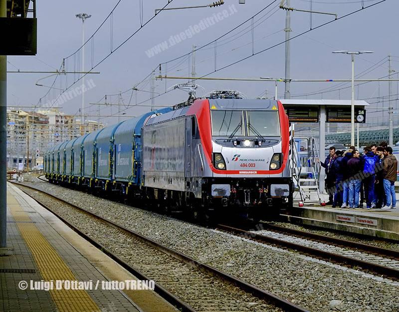 MIR: presentata a Roma Tiburtina la nuova E 494