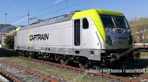 Captrain riceve la prima E 494 TRAXX DC3