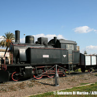 """AFRS, recupero estetico per la locomotiva a vapore n° 7 """"Giara"""" di Monserrato"""