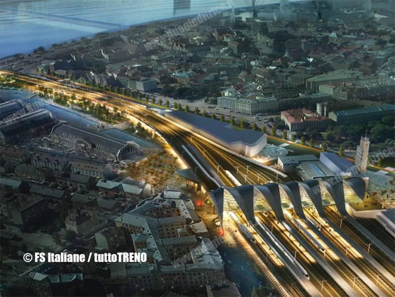 LDz-ristrutturazione_rendering_stazione_riga-Riga-ImmagineFSItaliane_tuttoTRENO_wwwduegieditriceit