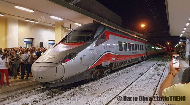 Pendolino tra Sibari e Bolzano