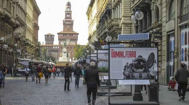 """Milano, via Dante: passeggiando tra """"Uomini e Ferro"""""""