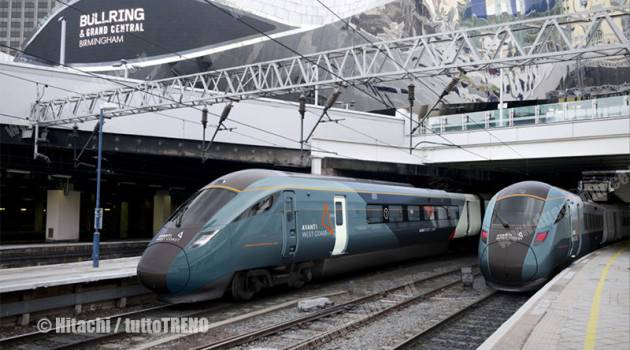 Treni Hitachi UK per Avanti West Coast (First-Trenitalia)