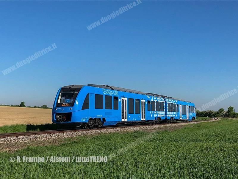 Alstom e Snam: accordo per lo sviluppo dei treni a idrogeno in Italia