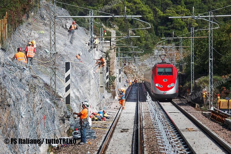 RFI-lavoriConsolidamentolinea_presso_BivioAurisina-2020-08-fotoFSItaliane_tuttoTRENO_wwwduegieditriceit