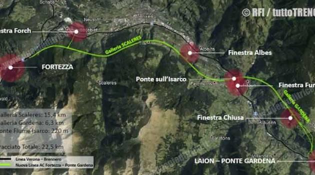 RFI: PUBBLICATO BANDO DI GARA PER LAVORI SULLA TRATTA FORTEZZA – PONTE GARDENA