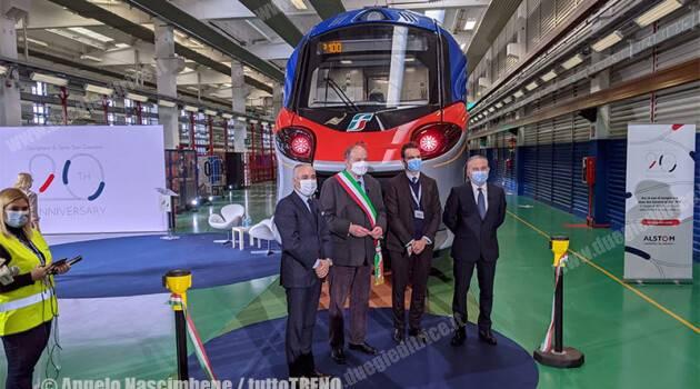Alstom: 20 anni a Savigliano festeggiati con la consegna del 100° Coradia Smart