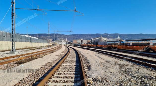 Trieste Campo Marzio: attivati nuovo fascio binari e un nuovo raccordo con il porto