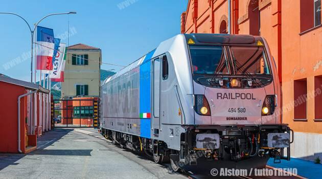 Alstom consegna la decima locomotiva TRAXX DC3 a RAILPOOL GmbH Branch Italia